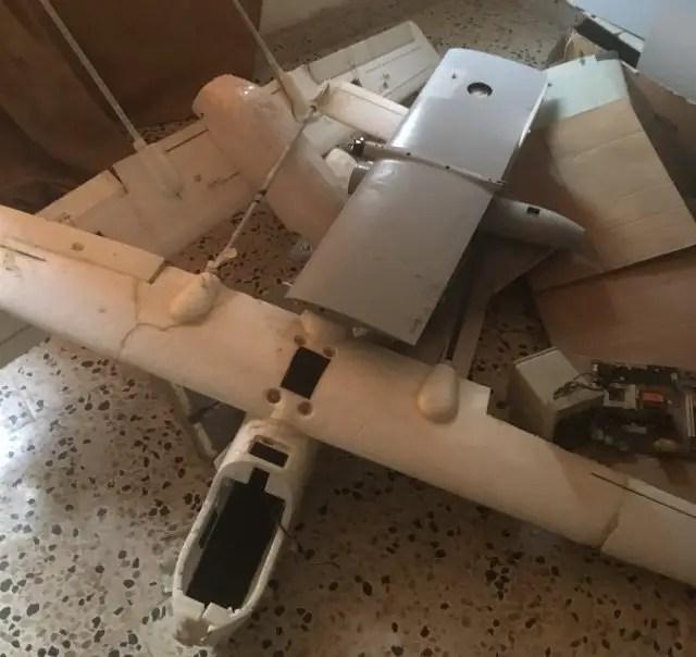 Drones at Islamic State drone facility in Mosul, Iraq (Vera Mironova)