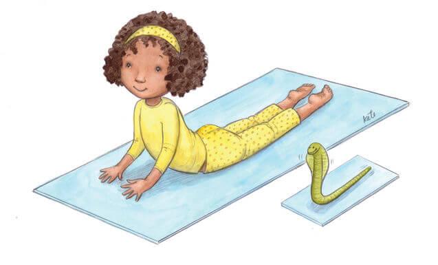 Yoga for children: cobra