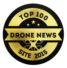 Top 100 Drone News Site - Award Badge Image