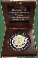 UAV Monument coin display box interior