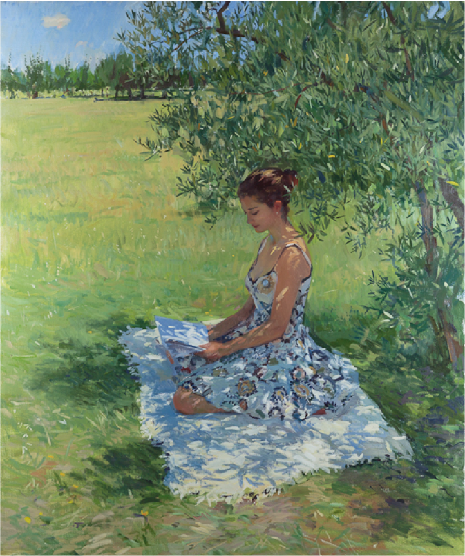 Tina Reading Under an Olive Tree_Marc Dalessio