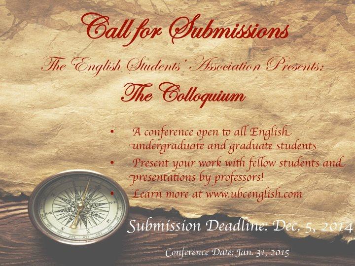 Call for Submissions ESA The Colloquium