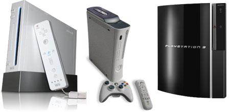 ventas Nintendo Wii, Playstation 3, Xbox 360