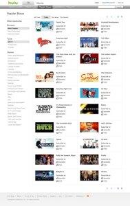Contenido popular en Hulu