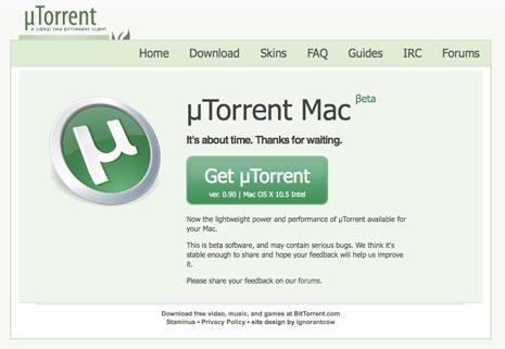 TÉLÉCHARGER UTORRENT POUR MAC OS X 10.4.11