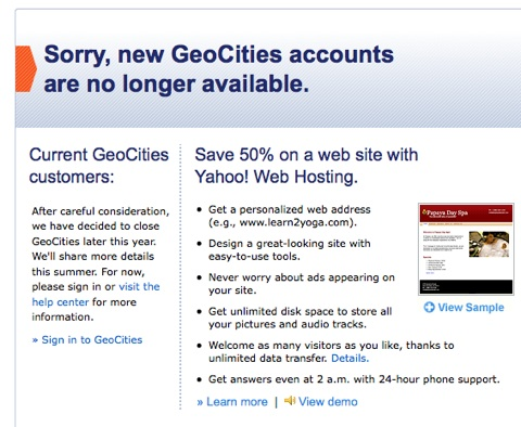 geocities-cerrado