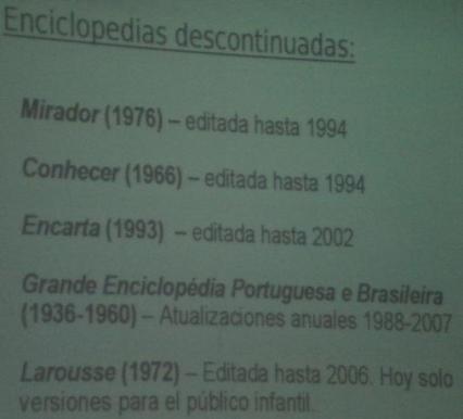 enciclopedias descontinuadas