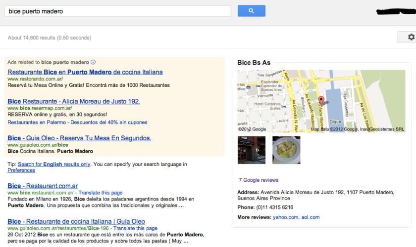 Buscar Bice en Google