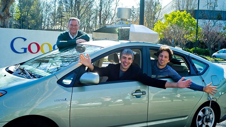 Page, Brin y el auto que se maneja solo