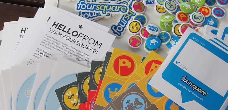 foursquare pins y meetup