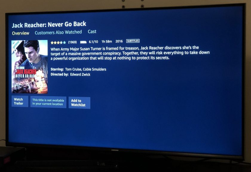 Amazon Video: This title is never any longer on hand in your fresh location