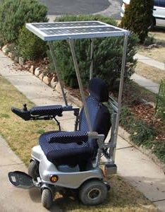Solar-powered wheelchair a first