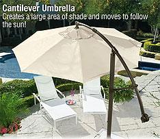Cantilever Umbrella follows the sun