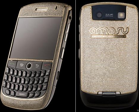 Amosu BlackBerry dipped in diamonds