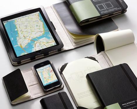 Genuine Moleskin iPad, iPhone Covers Combine Bits and Atoms