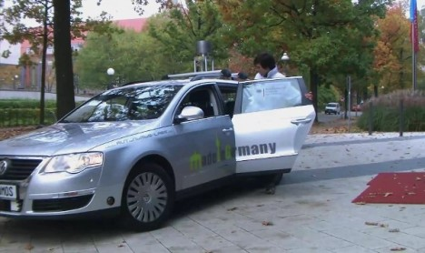Self-driving Taxi Picks You Up At The Press Of A Button