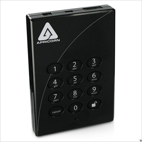 Disque dur portable crypté Apricorn Aegis Padlock Pro