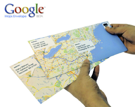Concept: Google Maps Envelope Beta