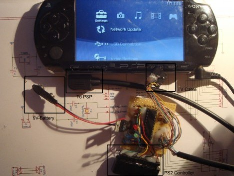 PS2 Controller Hacked To Control Your PSP