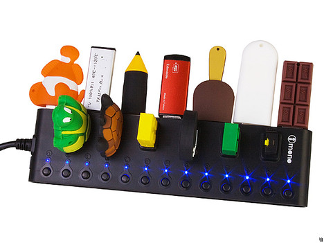 iMONO 13-Port USB Hub Bar turns on and off at your fancy