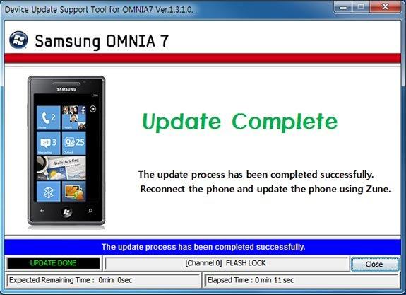 Samsung Omnia 7 update