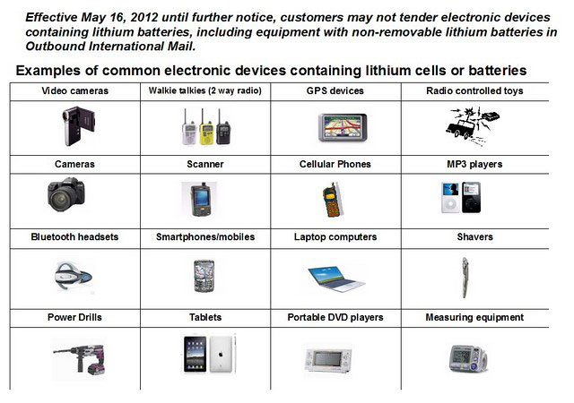 USPS to ban shipments of Li-ion battery-powered devices starting May 16
