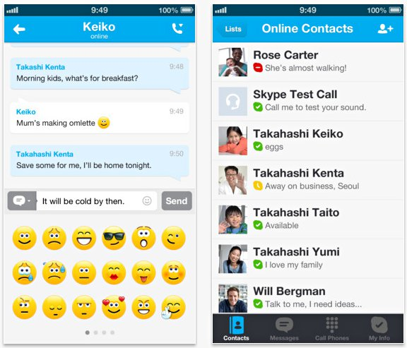 Skype For iOS Update Brings Microsoft Account Integration