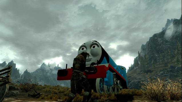 Skyrim Mod Turns Dragons Into Thomas The Tank Engine Trains