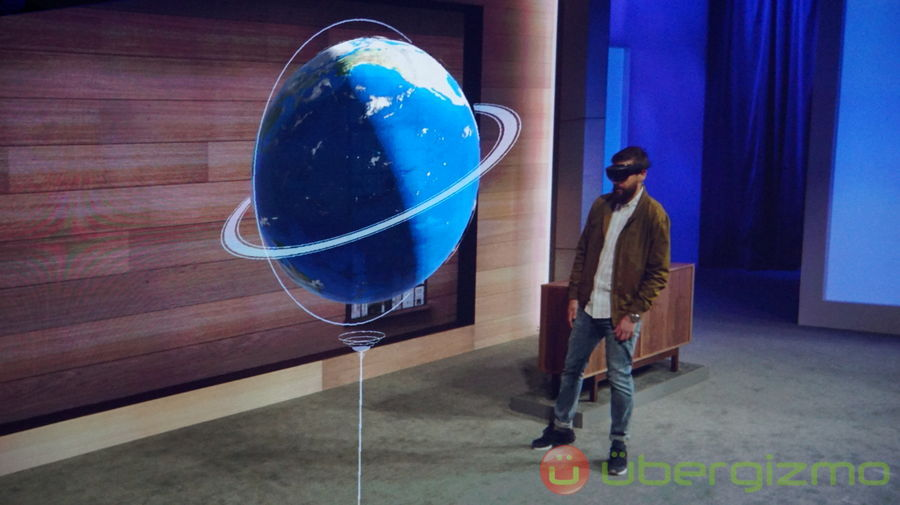 HoloLens Demo Impresses [Microsoft Build 2015] | Ubergizmo