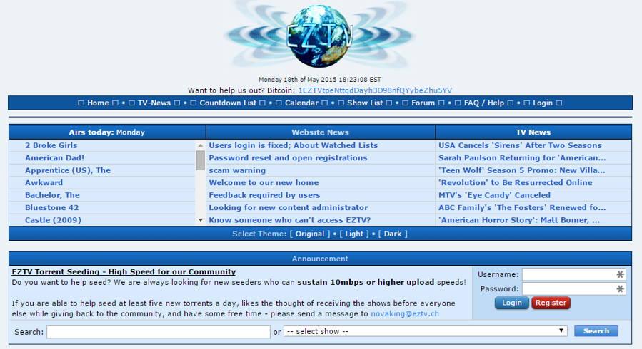 Torrent Website EZTV Shut Down Following Hostile Takeover
