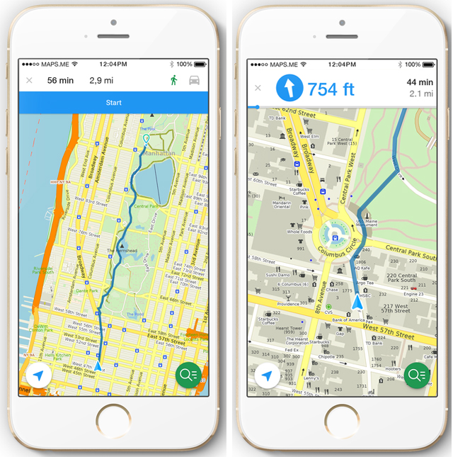 Maps Me Crowd Sourced Mobile Map App Launches Walking Directions