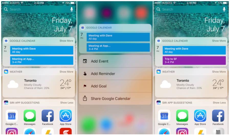Google Calendar For iOS Update Adds Today Widget | Ubergizmo