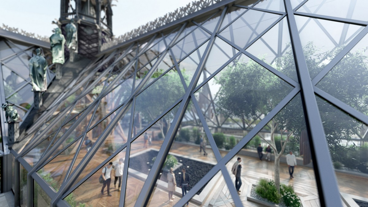 Notre Dame Cathedral Reimagined With A Stunning Glass Roof Ubergizmo