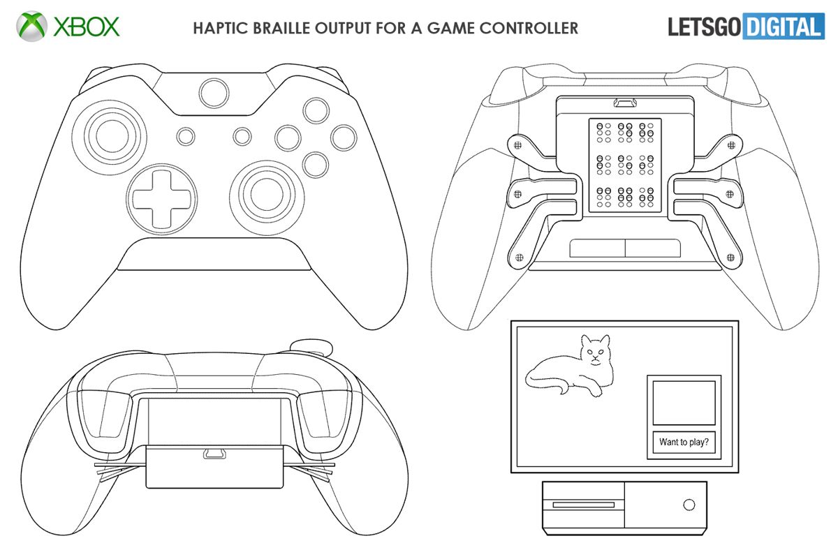 Microsoft Patents An Xbox Controller With Braille Readout