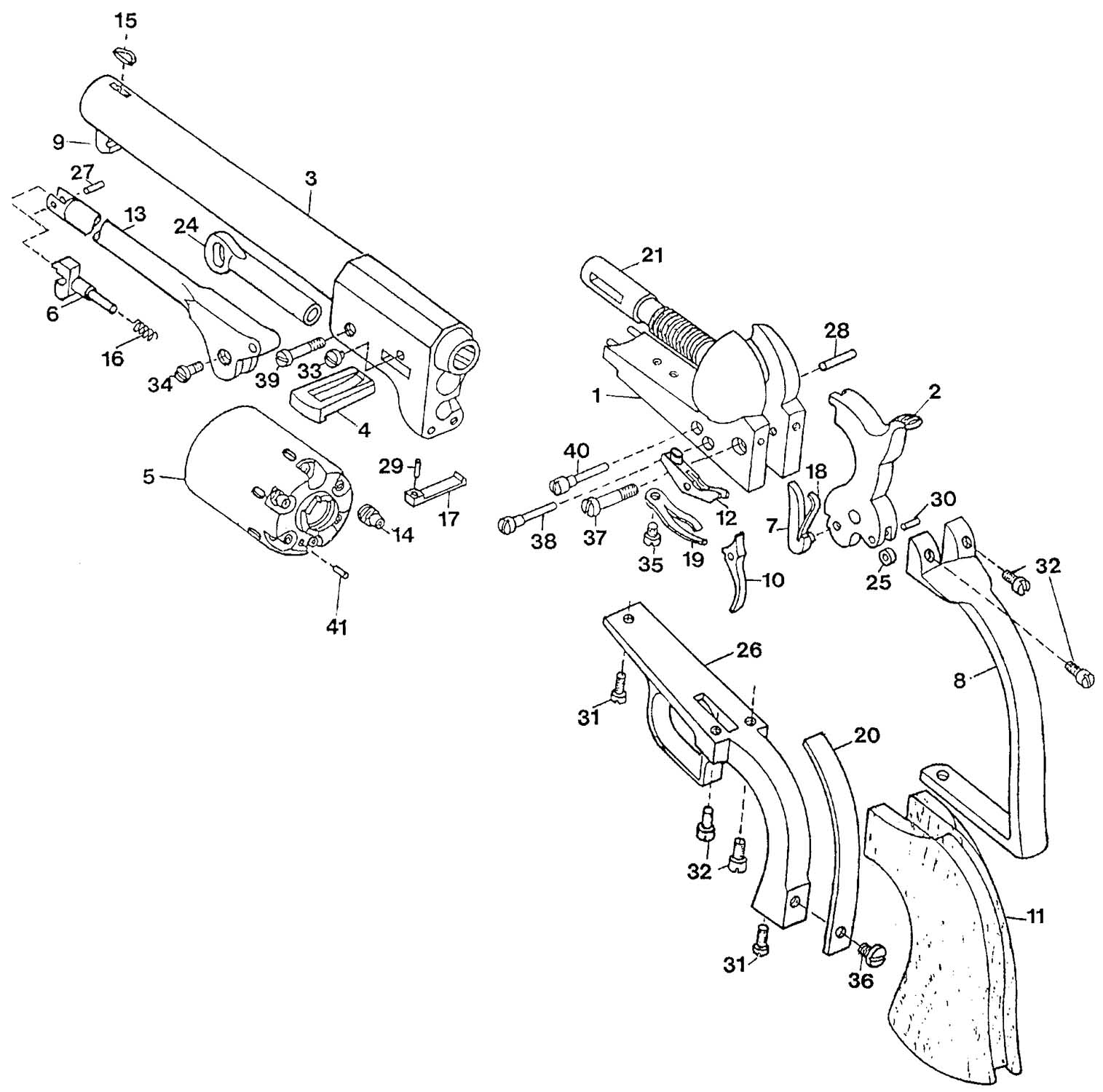 Black Powder Revolver Schematics