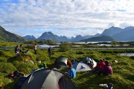 Camping spot by Selfjorden, Adam Dawson