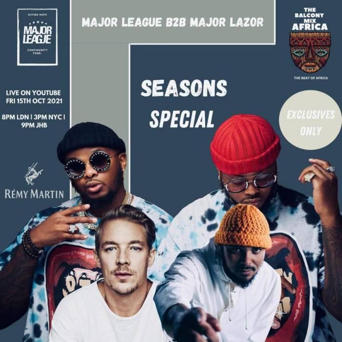 "Major League DJz To Feature Trio DJs ""Major Lazer"" In Upcoming Balcony Mix"