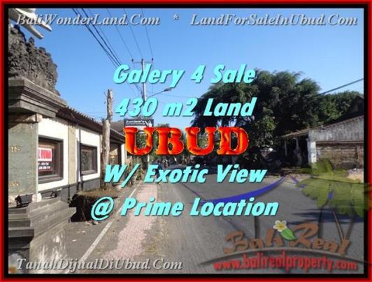 FOR SALE Beautiful PROPERTY 430 m2 LAND IN UBUD BALI TJUB443