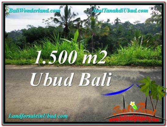 Beautiful 1,500 m2 LAND FOR SALE IN Ubud Tegalalang TJUB556