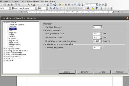 Optimizar arranque de LibreOffice