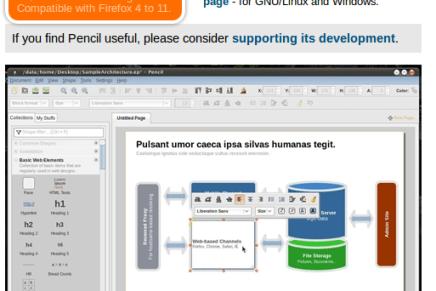 Pencil, aplicación libre y muy interesante para la creacion de interfaces gráficos