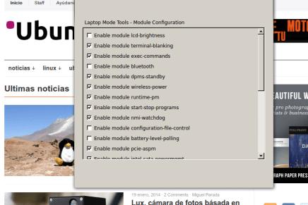 Instala Laptop Mode Tools 1.64 , ahora con interface de configuración.