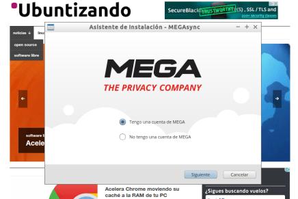 Probando MEGA en Linux