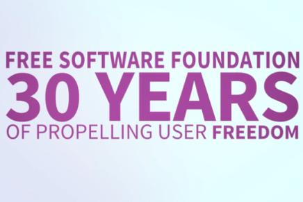 La Free Software Foundation necesita tu ayuda. (Vídeo promocional de los 30 años de la FSF)
