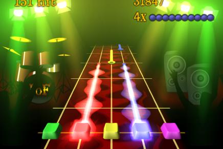 Frits on Fire, divertido juego de simulación de guitarra