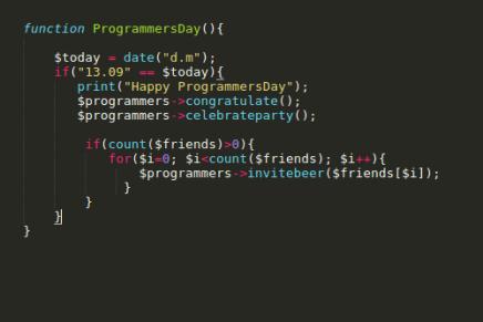 Feliz día del programador