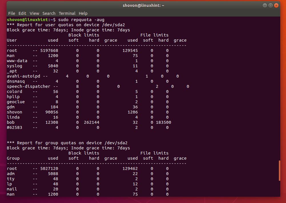 How to Use Quota on Ubuntu? 16