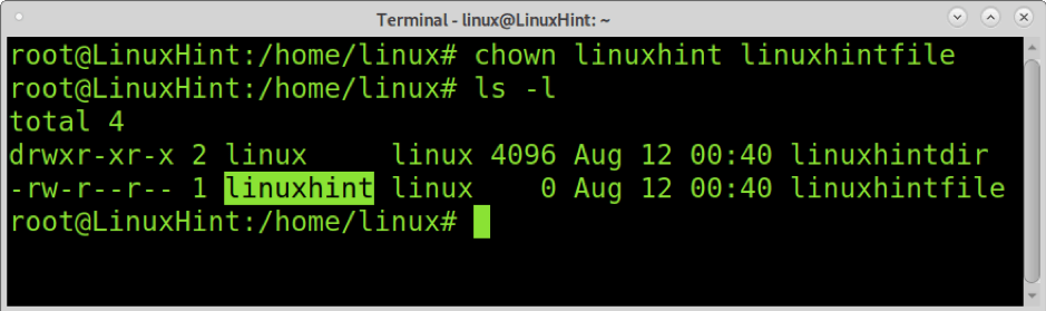 How to use Chown in ubuntu 2
