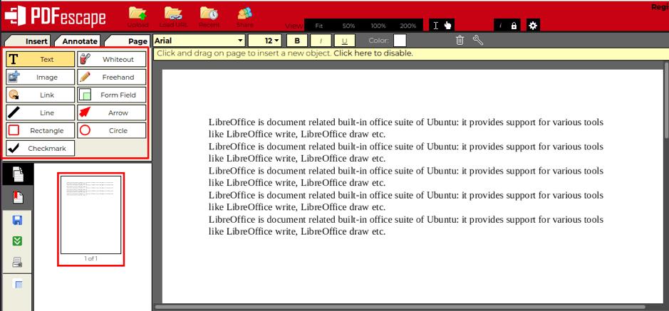 How to edit PDF file in Ubuntu 7