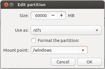 edit partition install ubuntu